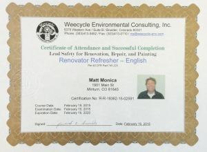 Matt is Lead Certified